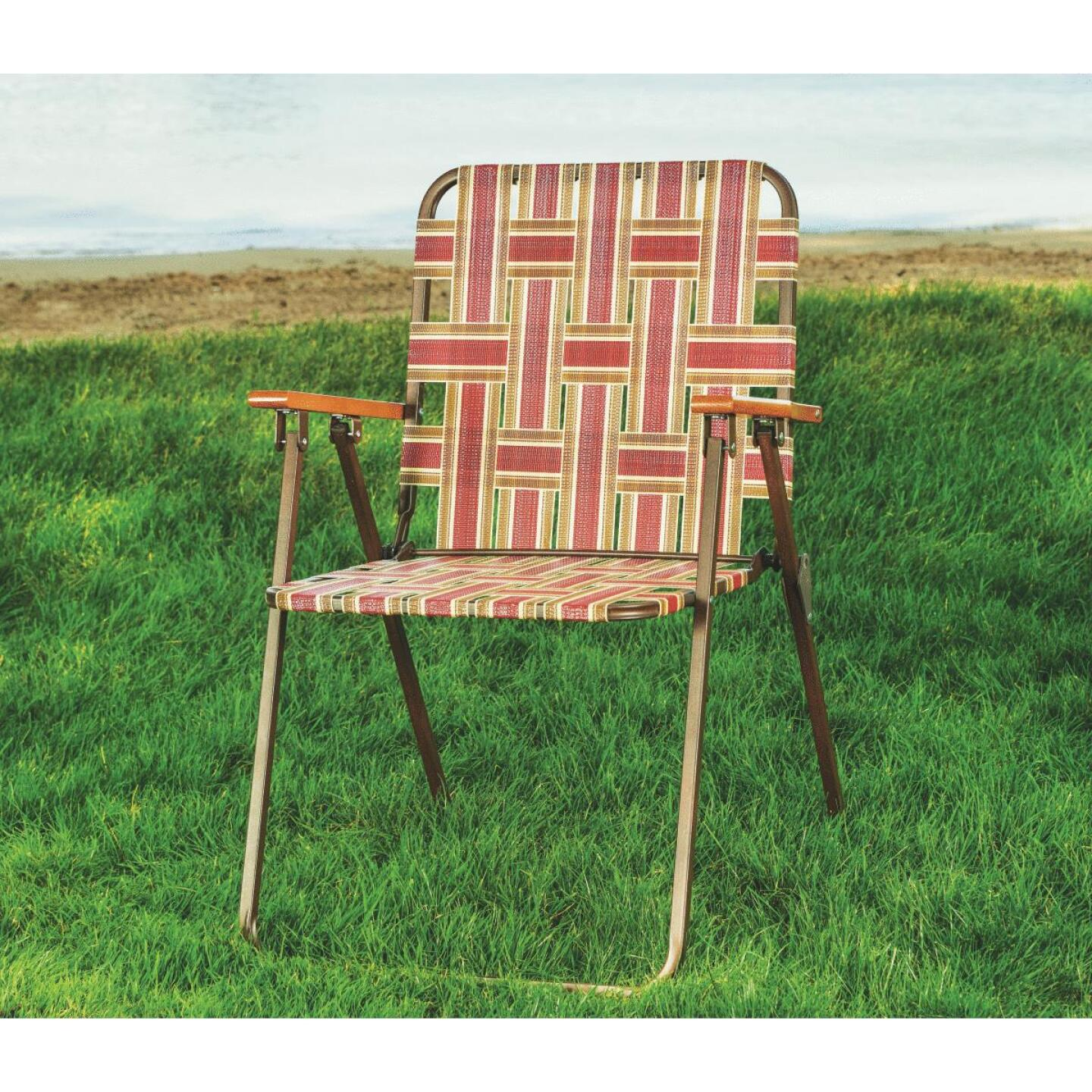 Outdoor Expressions Multi-Color Web Folding Chair Image 3